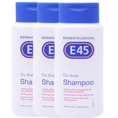 Bargain E45 Dry Scalp Shampoo Triple Pack   3x200ml Stockists