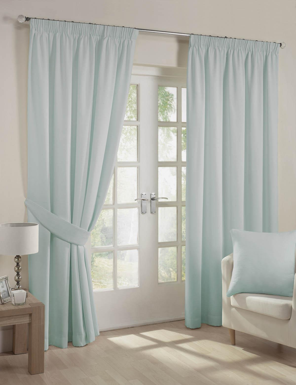 Stockists of Eau De Nil Fiji Ready Made Lined Curtains