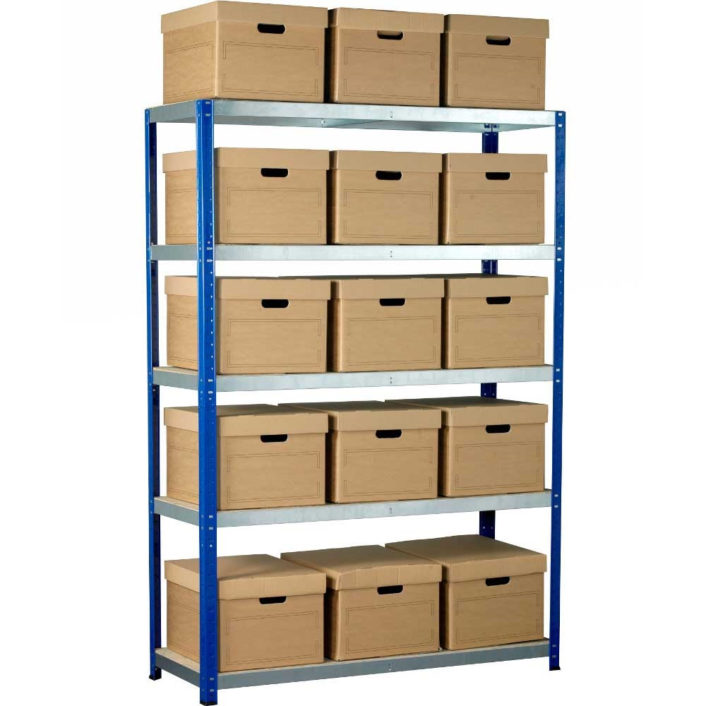 Bargain Ecorax   Topbox Shelving Units 5 shelves & 10 Archive Boxes Stockists