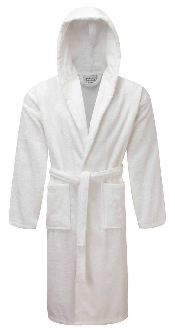 Bargain Egyptian Collection Luxury Towelling Dressing Gown - Hooded Stockists