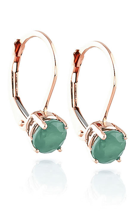 Bargain Emerald Boston Drop Earrings 1.2ctw in 9ct Rose Gold Stockists