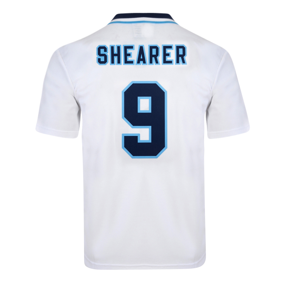 Bargain England 1996 Euro No9 Shearer Retro Shirt Stockists