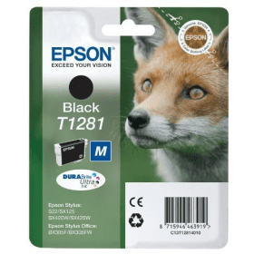Bargain Epson T1281 Original Black Ink Cartridge Stockists