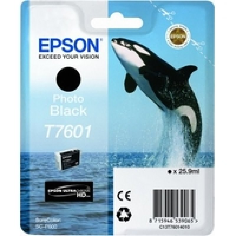 Bargain Epson T7601 Photo Black Ink Cartridge Stockists