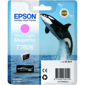 Bargain Epson T7606 Original Vivid Light Magenta Ink Cartridge Stockists