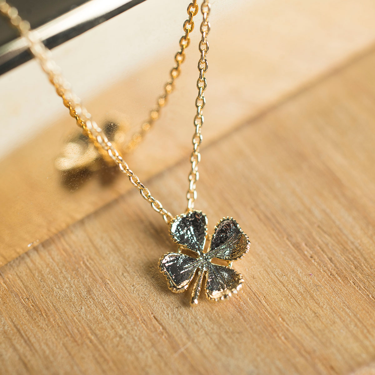 Bargain Estella Bartlett Lucky Clover Gold-Plated Necklace Stockists