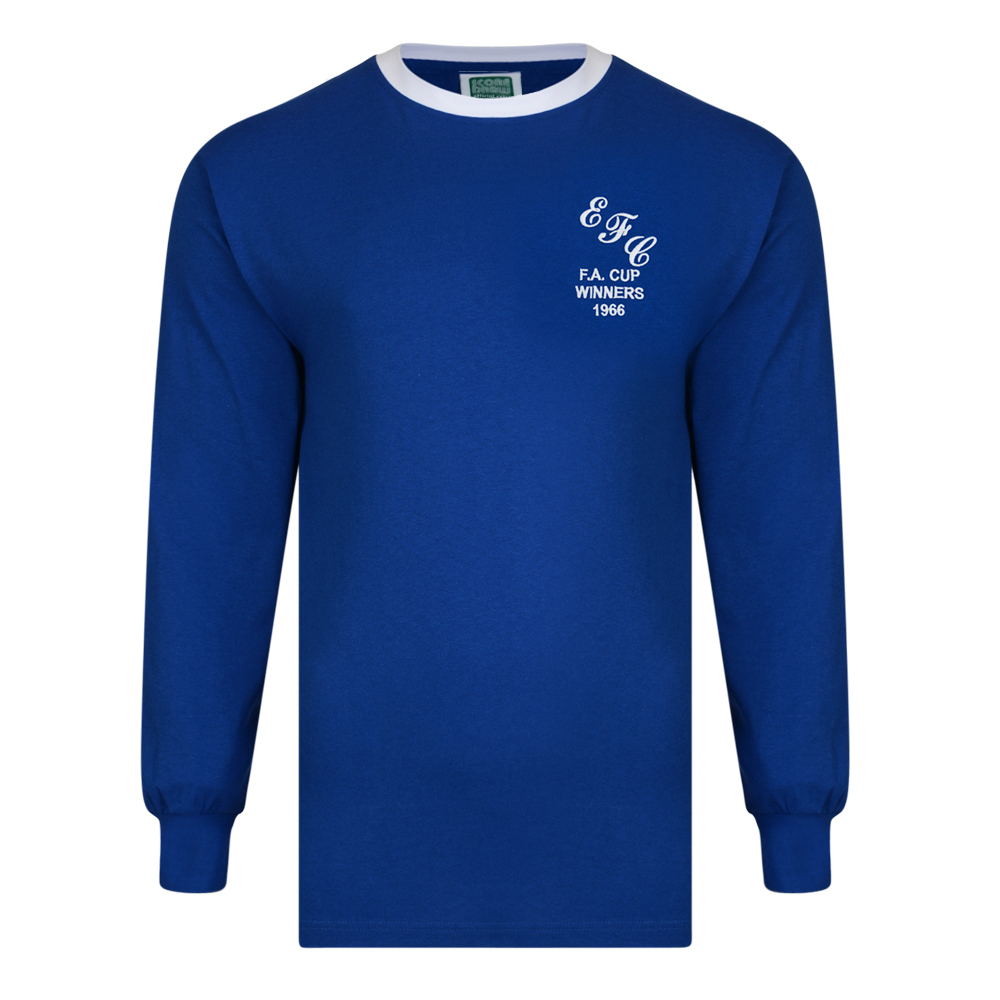 Bargain Everton 1966 FA Cup Winners Retro Football Shirt Stockists
