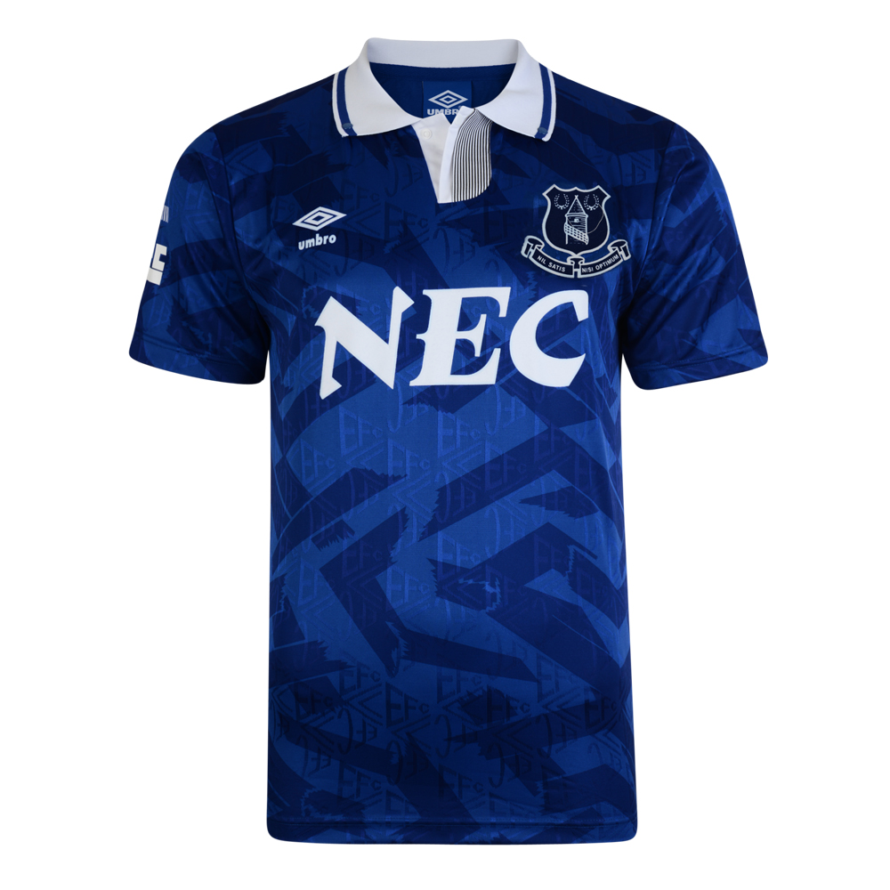 Bargain Everton 1992 Umbro Retro Football Shirt Stockists