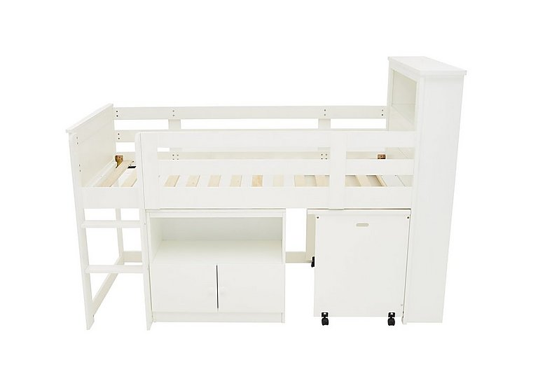 Bargain Explorer Mid Sleeper Bed with Desk and Cupboard Stockists