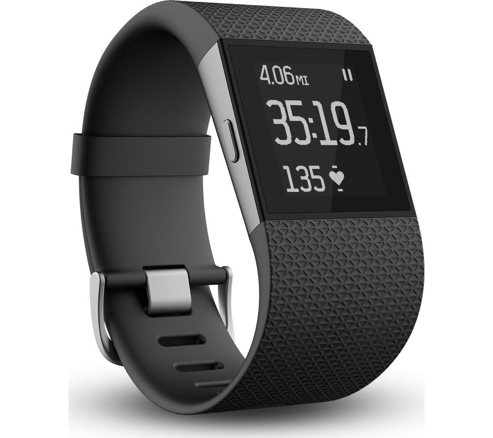Stockists of FITBIT Surge - Large, Black, Black