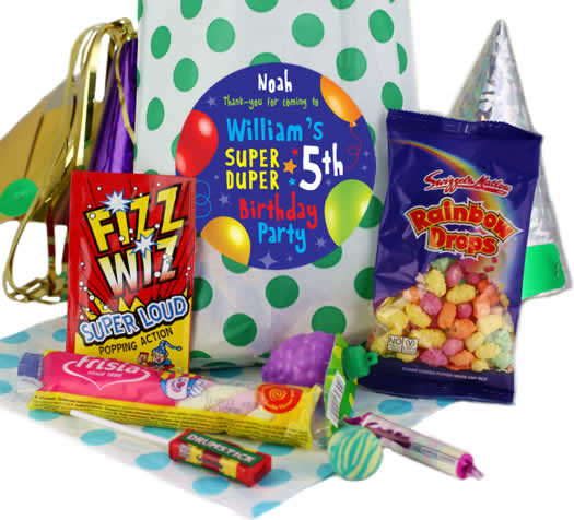 Bargain Fabulous Personalised Party Bags for Boys   Green Polka Stockists