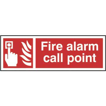 Bargain Fire alarm call point - Self Adhesive Sticky Sign (300 x 100mm) Stockists