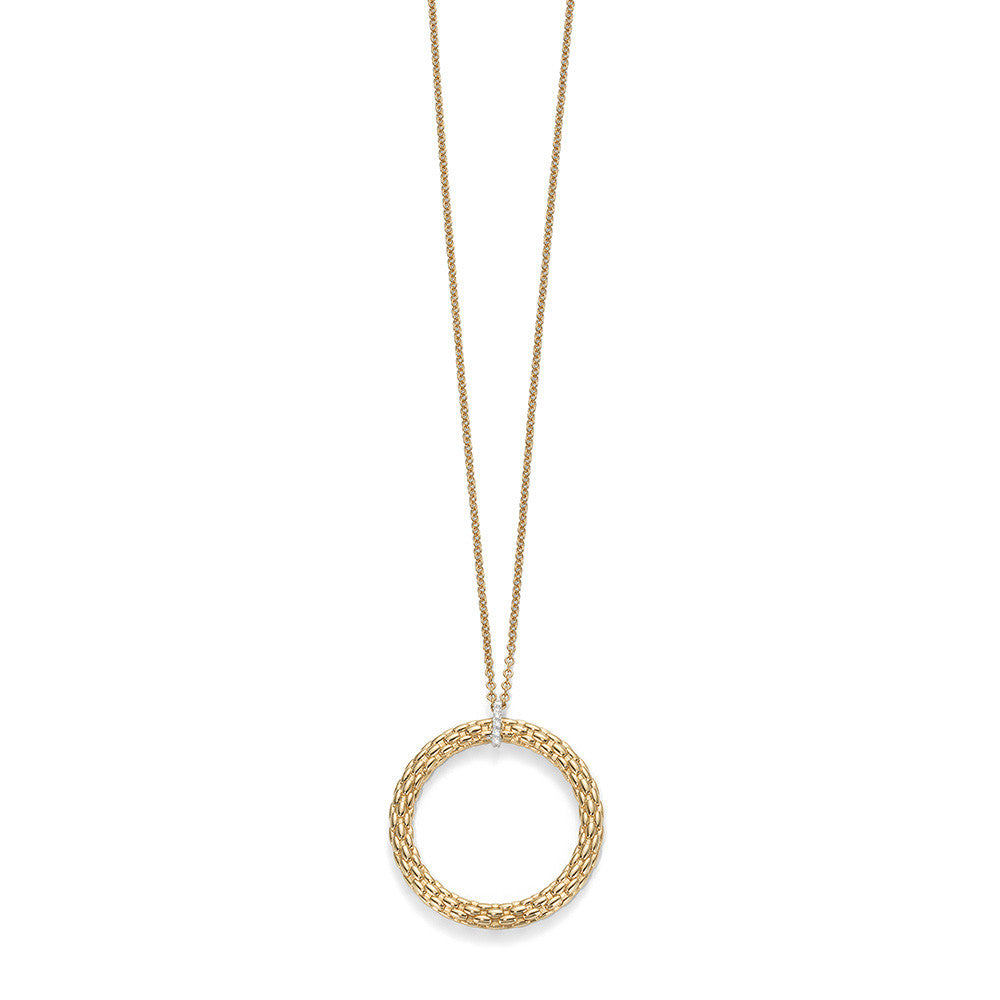 Bargain Fope 18ct Yellow Gold 0.04 Carat Diamond Lovely Daisy Pendant Necklace Stockists
