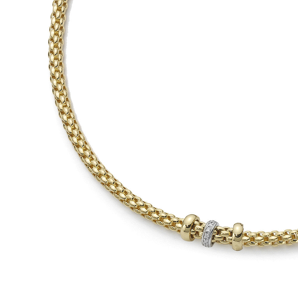 Bargain Fope Necklace Solo Diamond 18ct Yellow And White Gold Stockists