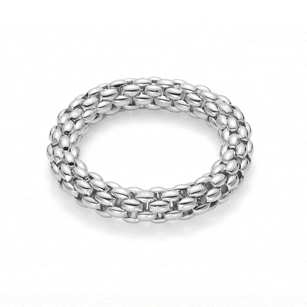 Bargain Fope Silverfope Air Silver Palladium Size M Link Bracelet Stockists