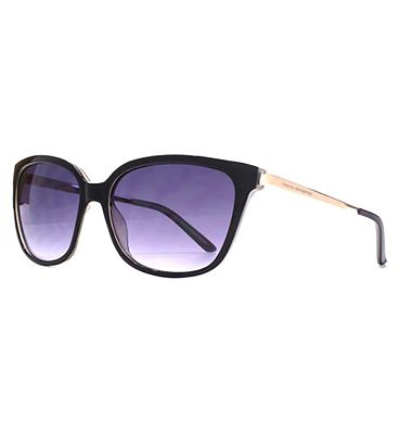 Bargain French Connection Woman Square Metal Temple Sunglasses Stockists