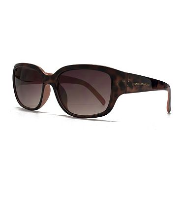 Bargain French Connection Woman Sunglass   Brown small frame with peach interior Stockists