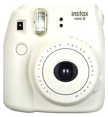 Bargain Fujifilm Instax Mini 8 White Camera Plus 10 Instant Film Shots Stockists