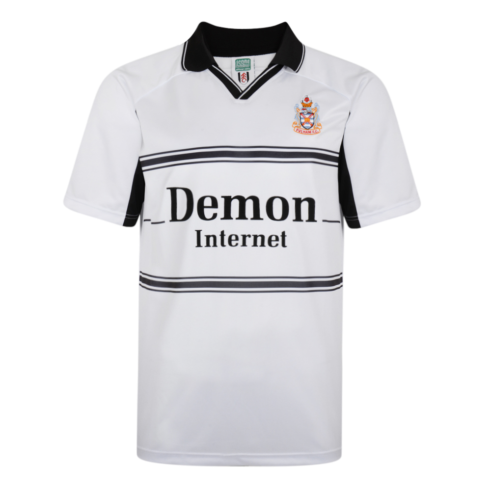 Bargain Fulham 2001 Retro Football Home Shirt Stockists