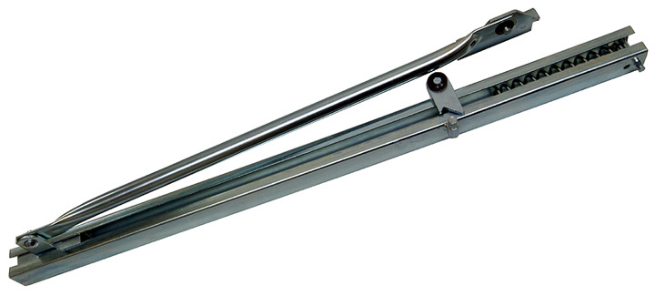 Stockists of Galvanised Channel Style Hold Open Door Stay 800-1100mm