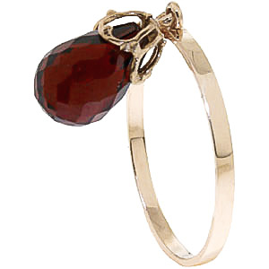 Bargain Garnet Crown Briolette Ring 3.0ct in 9ct Gold Stockists