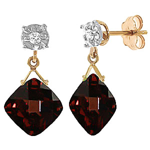 Bargain Garnet and Diamond Deflection Stud Earrings 17.5ctw in 9ct Gold Stockists