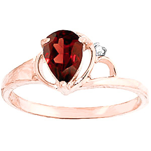 Bargain Garnet and Diamond Ring 0.65ct in 9ct Rose Gold Stockists