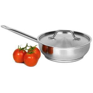 Bargain Genware Stainless Steel Sauteuse Pan & Lid 2.8ltr Stockists