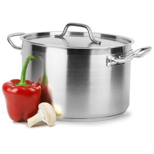 Bargain Genware Stainless Steel Stewpan & Lid 11.1ltr Stockists