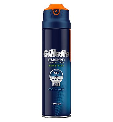 Bargain Gillette Fusion Proglide Sensitive Ocean Breeze Shaving Gel 170ml Stockists