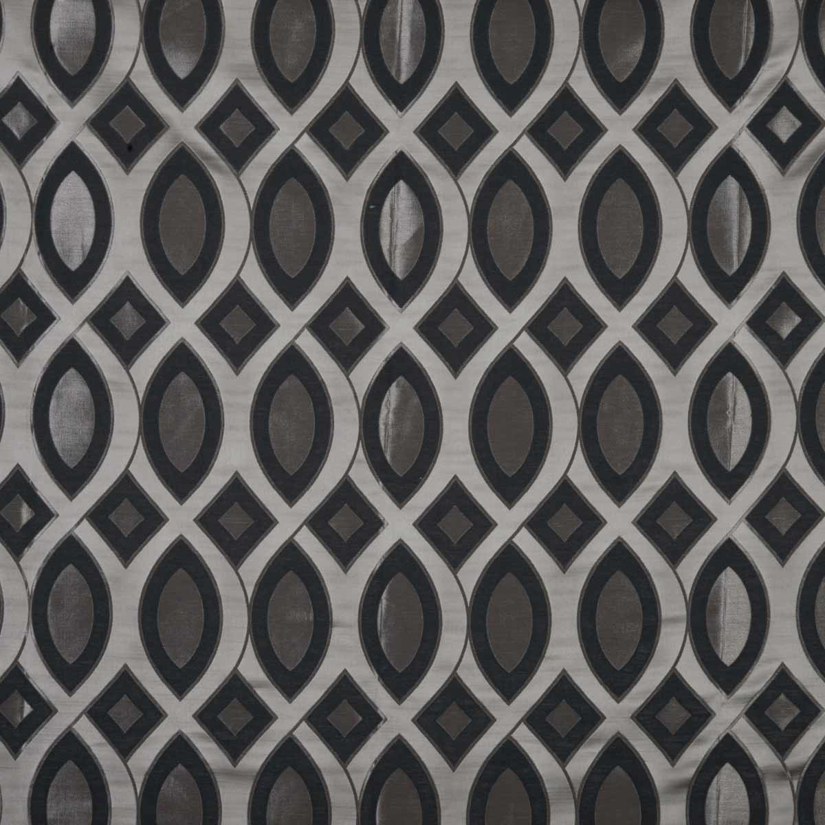 Stockists of Graphite Valentine Curtain Fabric