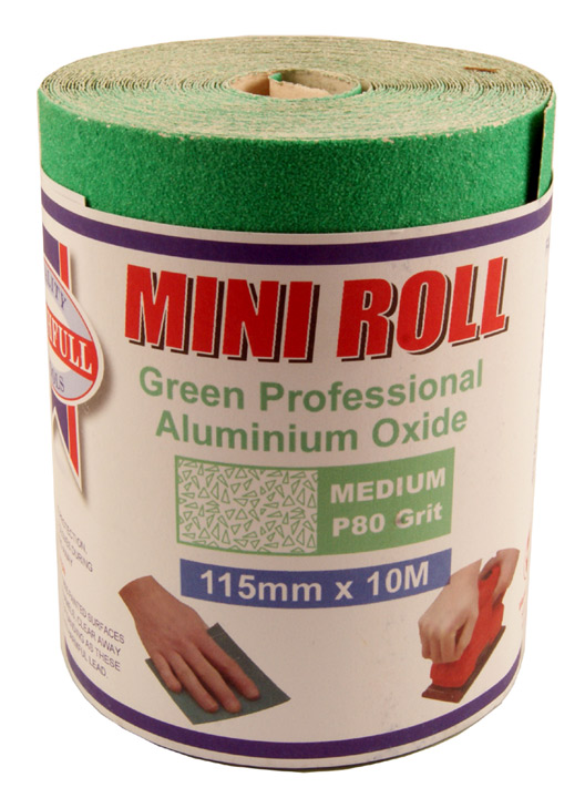 Stockists of Green Sand Paper Roll 80 Grit 115mmx10M