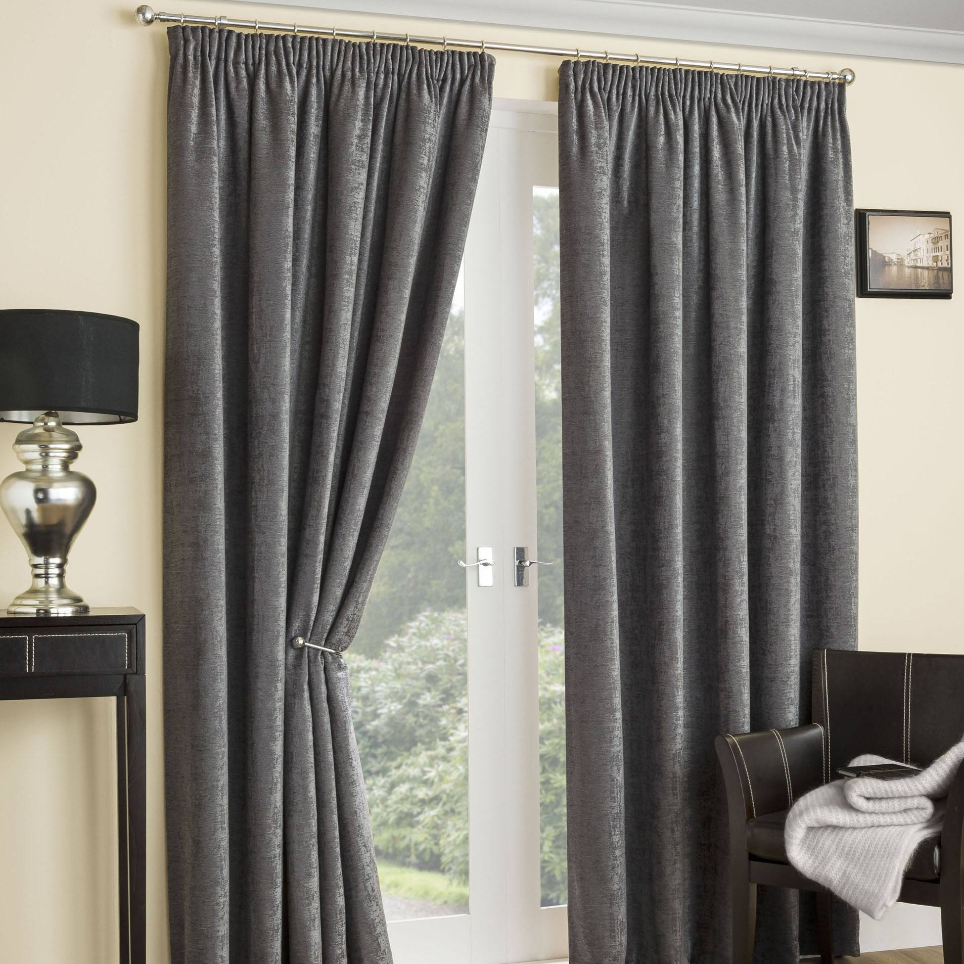 Stockists of Grey Balmoral Thermal Interlined Ready Made Curtains