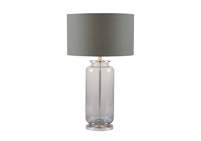 Bargain Grey Ombre Glass Table Lamp Stockists