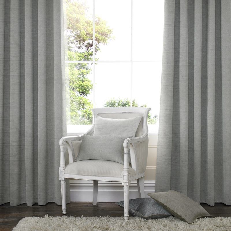 Bargain Grey Salvador Faux Silk Made to Measure Curtains Stockists