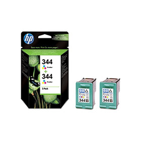Bargain HP 344 ( C9505ee ) Original Maximum Capacity Colour Ink Cartridges x2 Stockists
