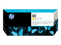 Bargain HP 80 - yellow - printhead with cleaner Stockists