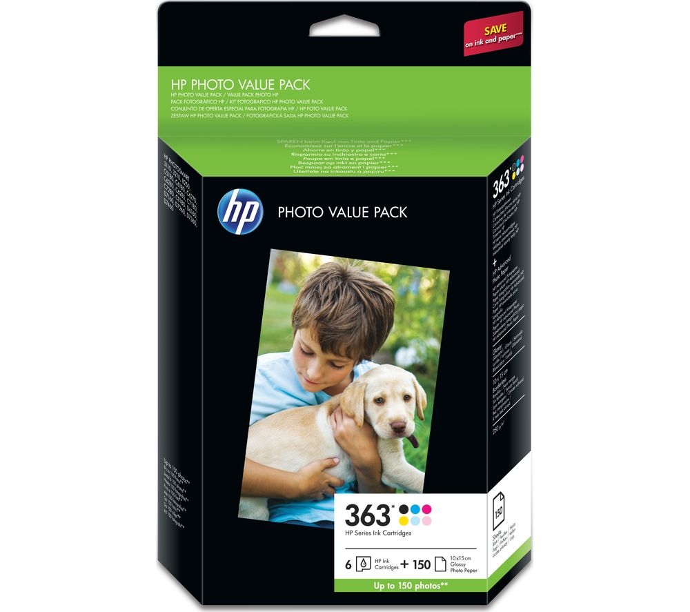 Bargain HP Photo Value Pack – 363 Colour Ink Cartridge & A6 Paper Stockists