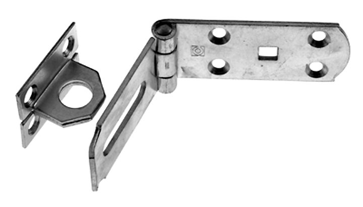 Stockists of Heavy Galvanised Hasp and Staple 250mm
