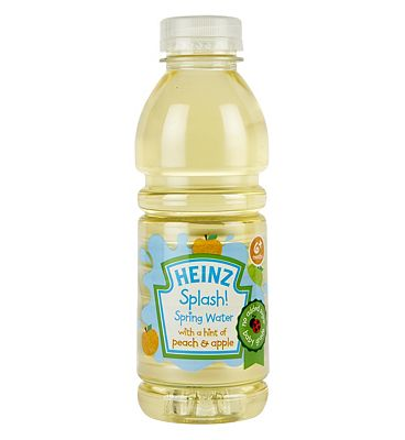 Bargain Heinz 6+ Months Splash! Spring Water with a Hint of Peach & Apple 500ml Stockists