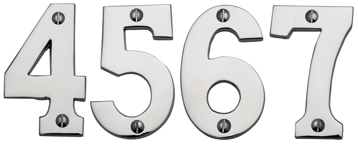 Bargain Heritage C1566 Chrome Screw Fix Door Numerals 0 9 76mm Stockists