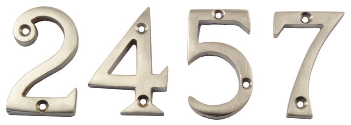 Stockists of Heritage C1567 Satin Chrome Door Numerals 0-9 51mm