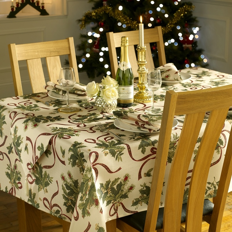 Stockists of Holly Ribbon Christmas Table Linen