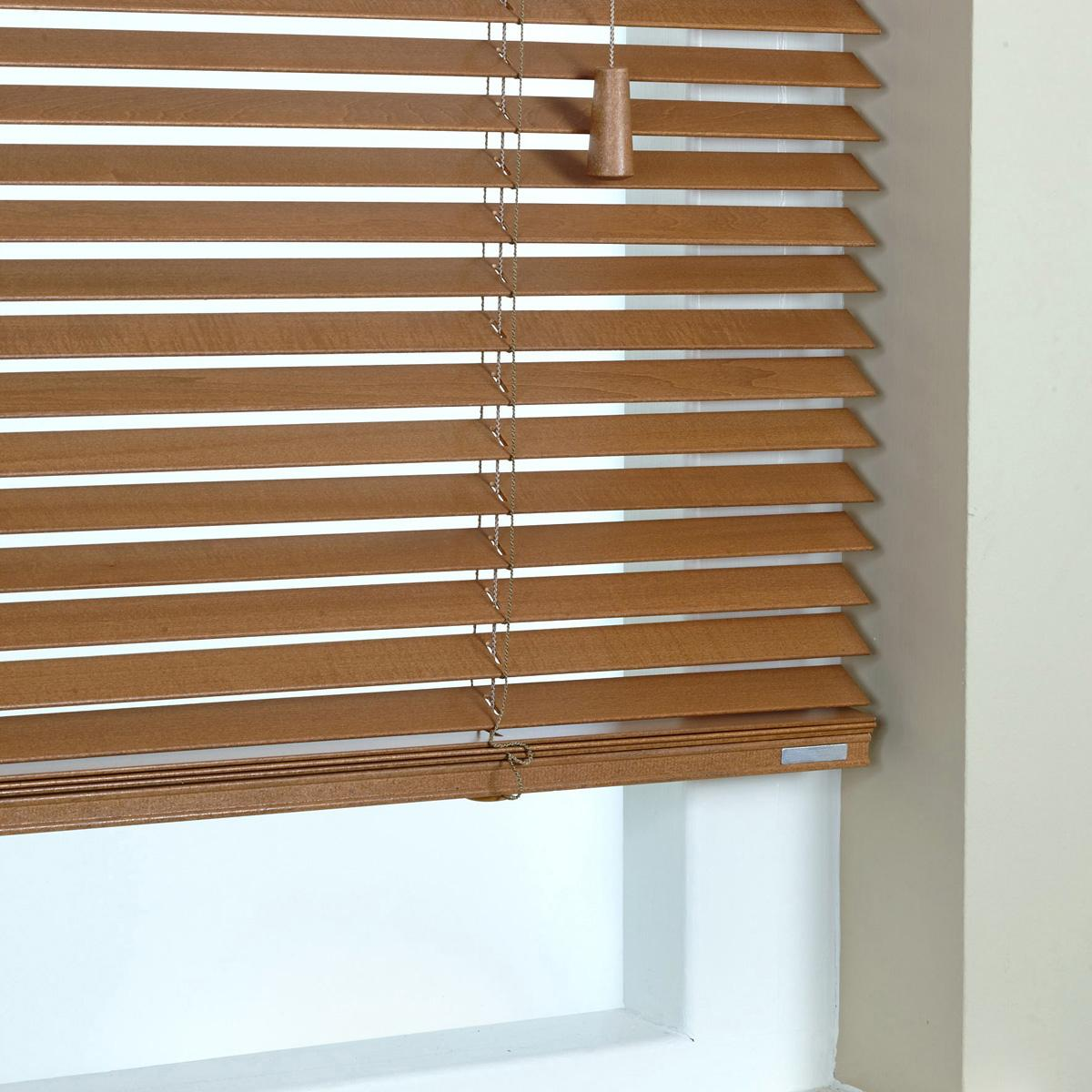 Stockists of Honey 25mm Elementi Wood Venetian Blind