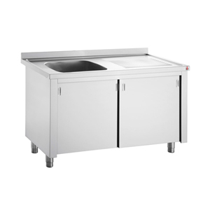 Bargain Inomak Stainless Steel Sink on Cupboard LK5111L   Single Bowl, Right Hand Drainer Stockists