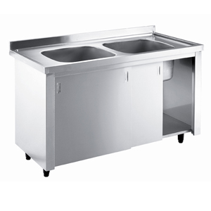 Bargain Inomak Stainless Steel Sink on Cupboard LK5142C   Double Bowl, No Drainer Stockists