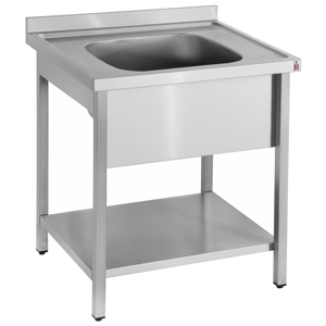 Bargain Inomak Stainless Steel Sink on Legs LA571C   Single Bowl, No Drainer Stockists
