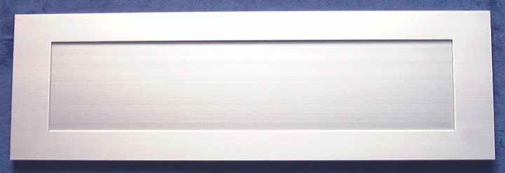 Stockists of Inward Opening Letter Box Satin Anodised 16x5in (406x125mm)