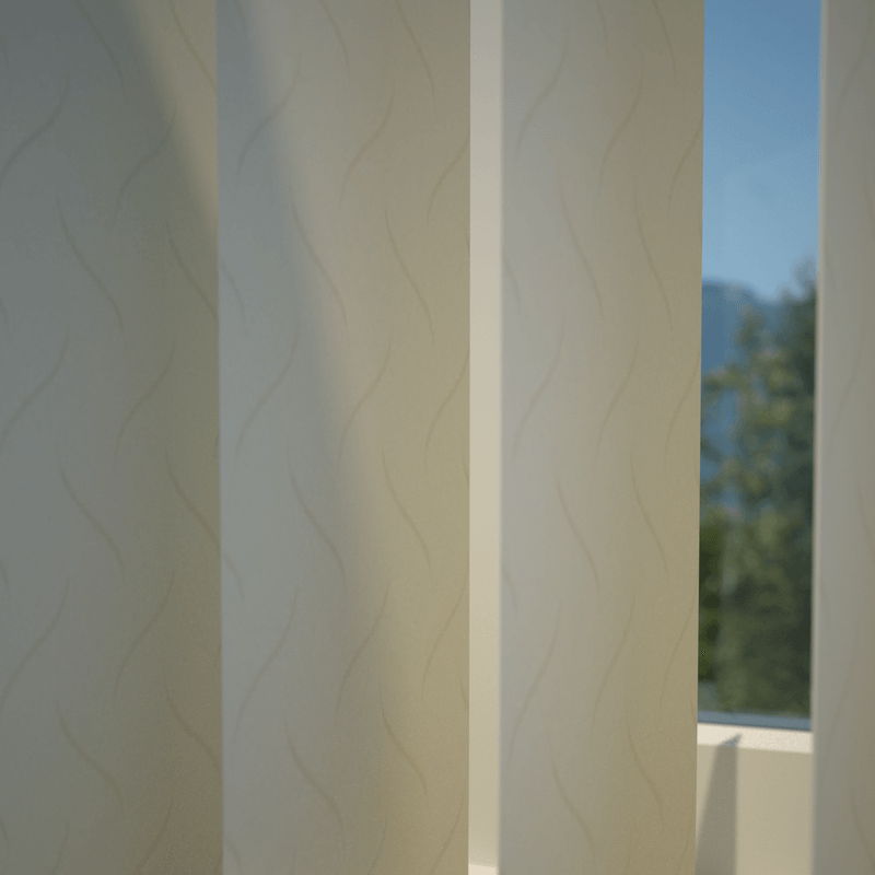 Stockists of Ivory Lily Vertical Blind