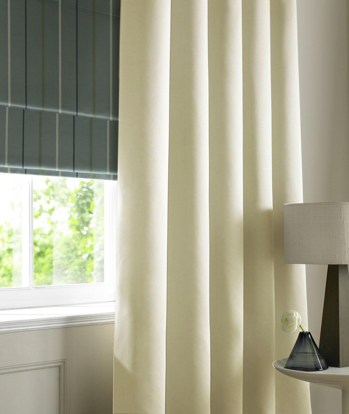 Stockists of Ivory Satin Made to Measure Curtains